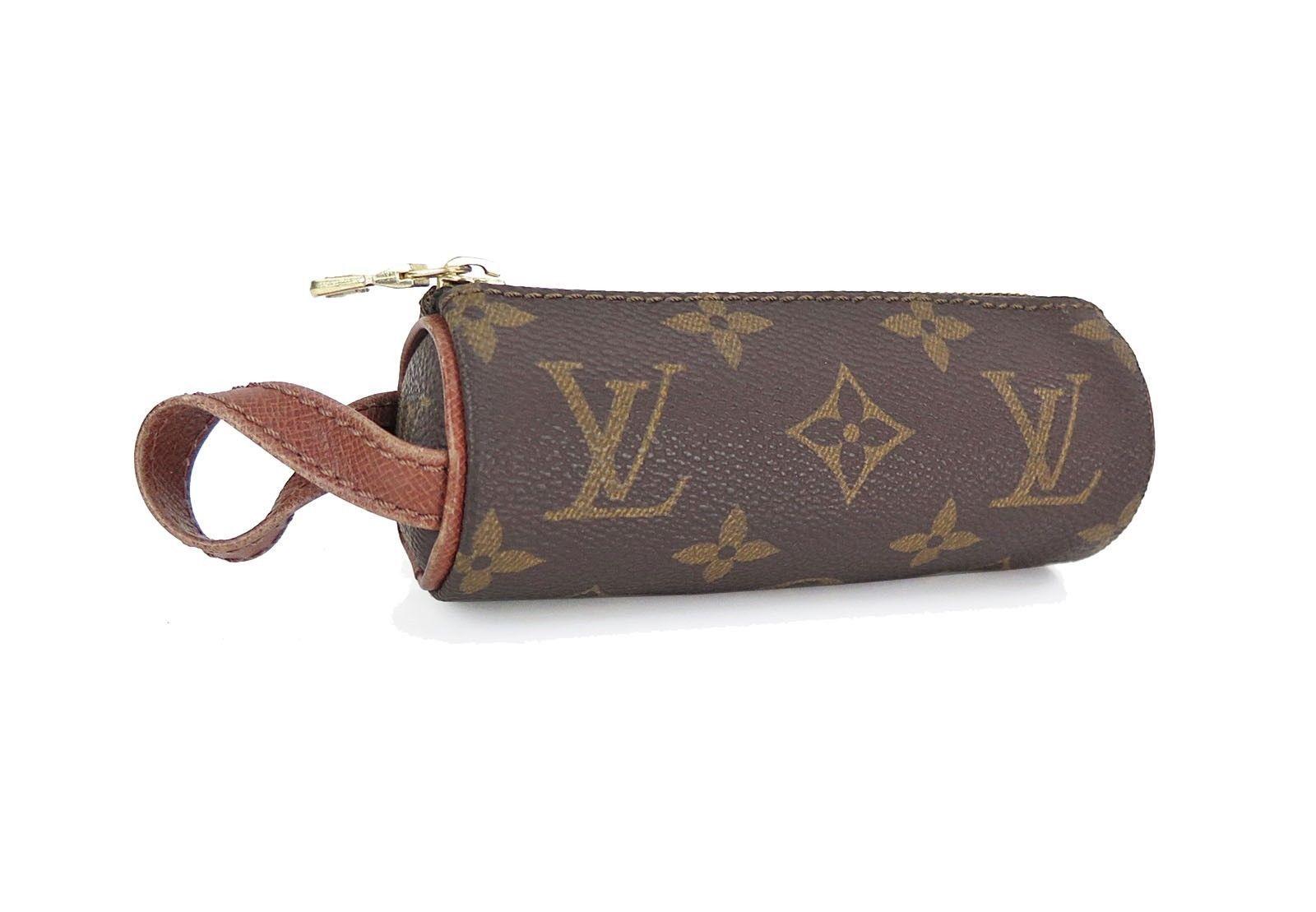 Authentic LOUIS VUITTON Monogram Canvas Golf Ball Bag Pouch #21908