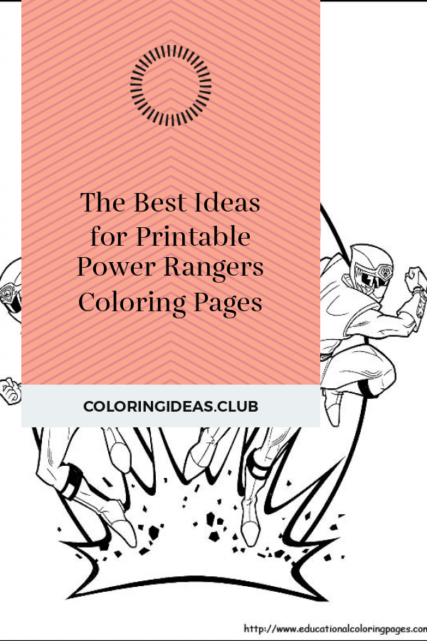 The Best Ideas for Printable Power Rangers Coloring Pages ...