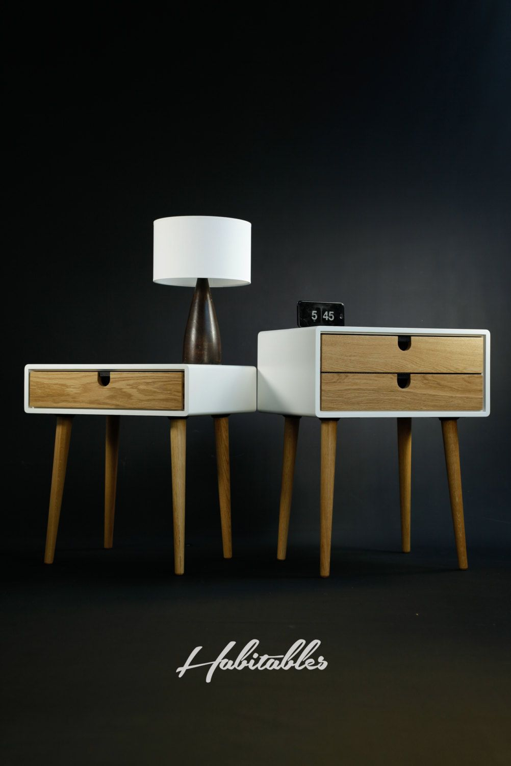Best White Nightstand Bedside Table Scandinavian Mid Century 400 x 300