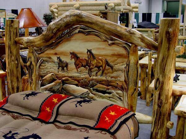 horse natural wood bed frame - Natural Wood Bed Frame