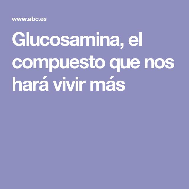 Glucosamina, el compuesto que nos hará vivir más
