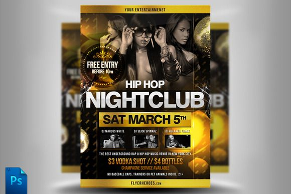 Check out Hip Hop Flyer Template II by Quickandeasy on Creative - hip hop flyer template