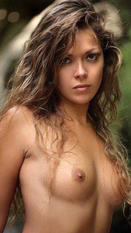 Brunette big boobs puffy nipples
