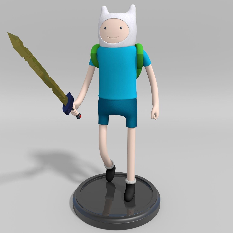 Adventure time finn the human 3d model adventure time