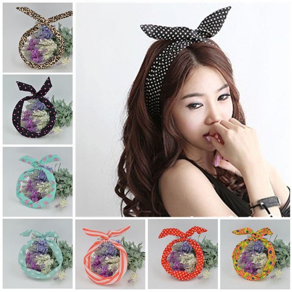 Women Hair Band Headband Cute Rabbit Ear Bunny Bow knot Boho Wire Accessories
