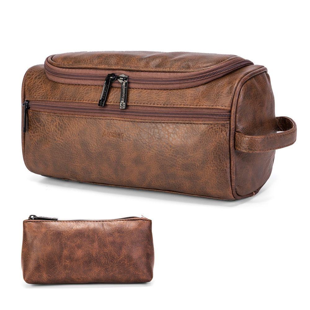 Alpine Swiss Hudson Shaving Kit Dopp Kit Overnight Toiletry Bag Travel Case New