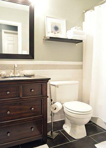 subway and penny tiles | bathroom decor, bathroom