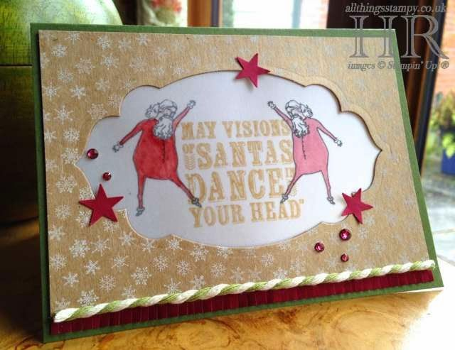 All Things Stampy: Visions of Santa dancing on vellum
