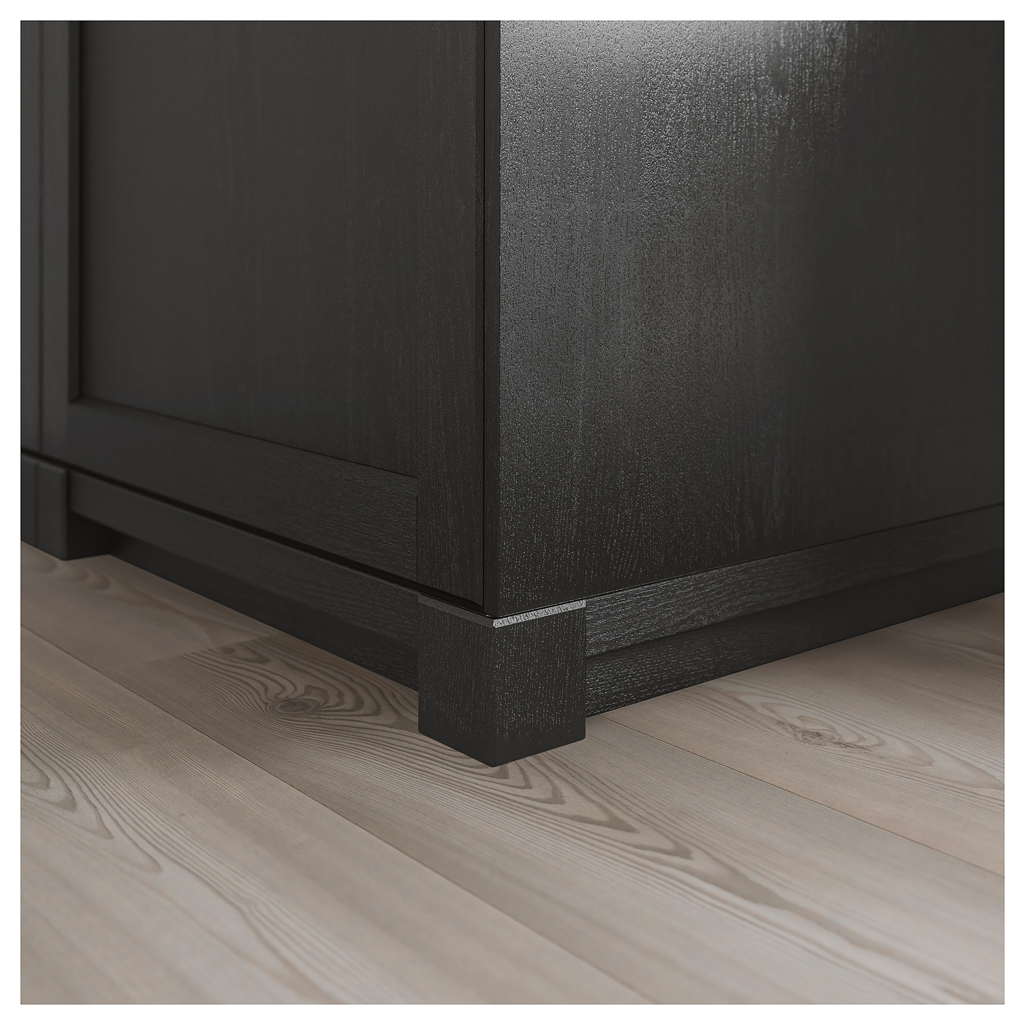 Best Lerhyttan Corner Leg For Decorative Plinth Black Stained 400 x 300