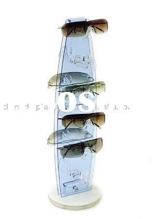 Acrylic Counter Top Rotating Sunglass Display Rack Sunglasses
