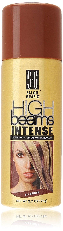High Beams Intense Temporary Spray On Hair Color Brown 27 Ounce
