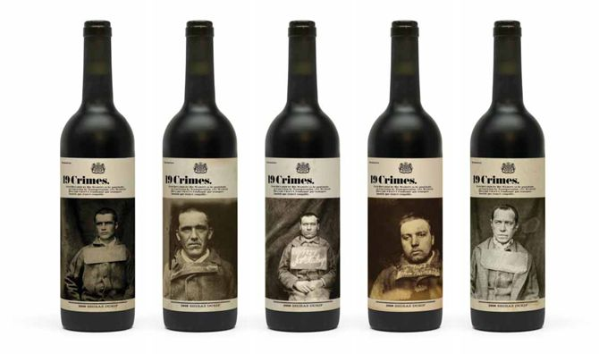 19 Crimes Australian Wines. Wine Labels We Love