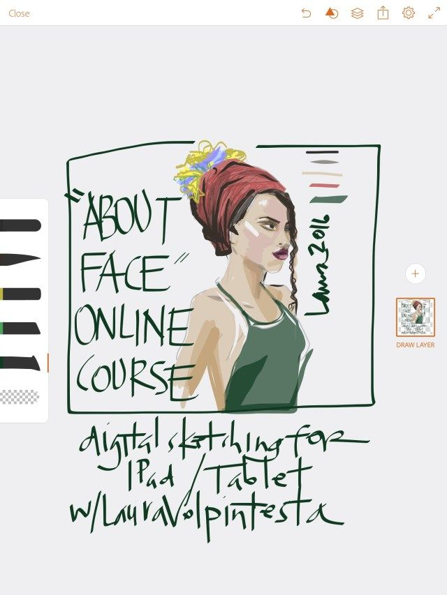 Check out ABOUT FACE online course! digital drawing on Adobe ...