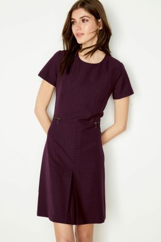 b85ebe0f46 Buy Embossed Workwear Dress online today at Next  United States of America