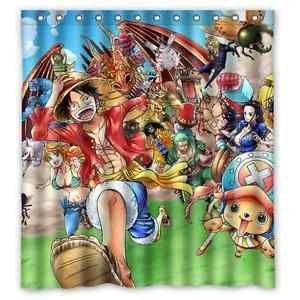 High Quality Bathroom Anime One Piece Waterproof Shower Curtain 66 X 72 Inch