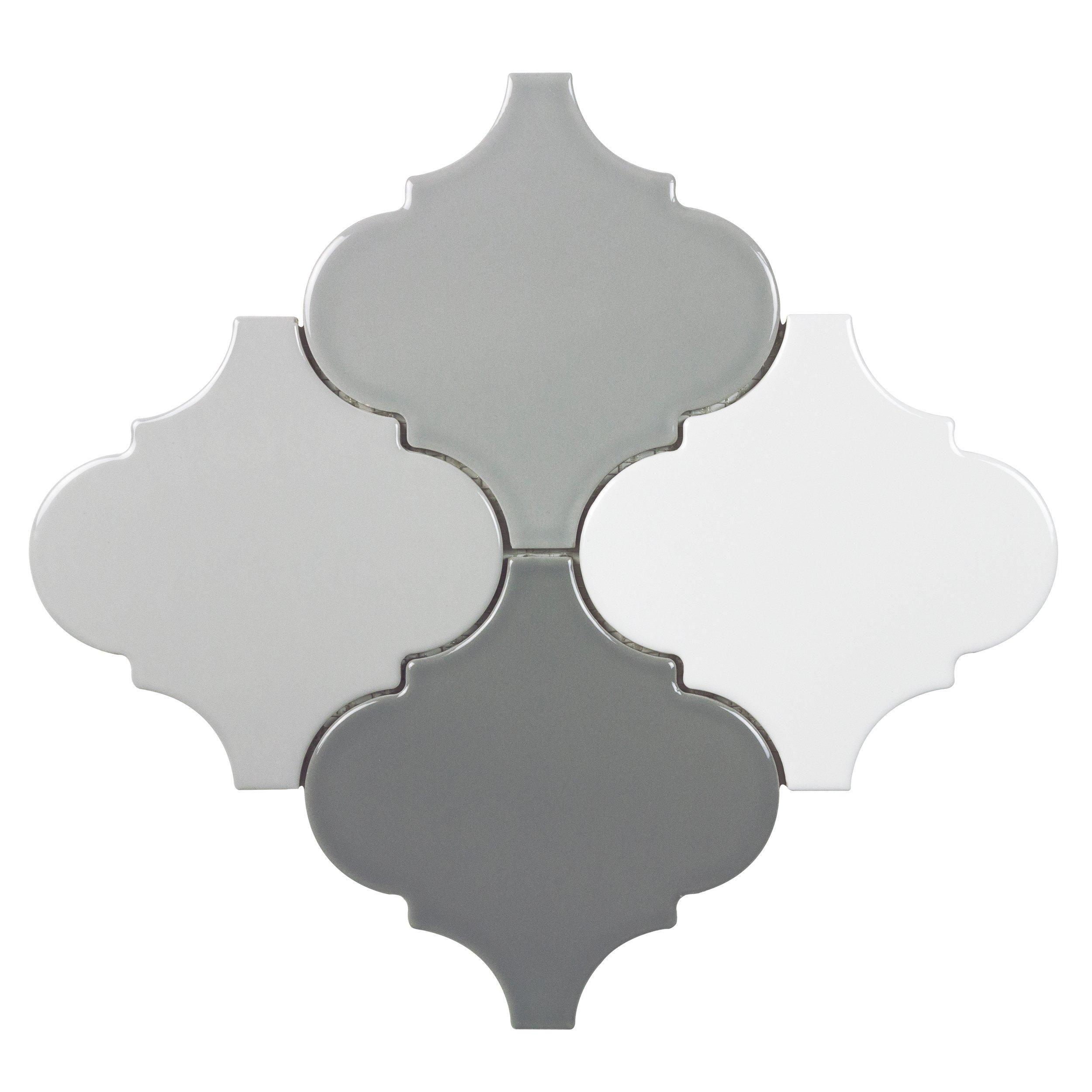 Multi Color Arabesque Porcelain Mosaic Decorative Backsplash Porcelain Mosaic Arabesque Mosaic Tiles