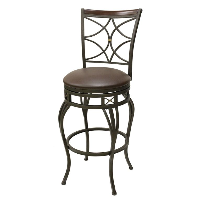 Interior Unfinished Pier One Black Wrought Iron Bar Stools From