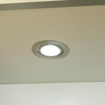 Flush downlighter kitchen lighting howdens joinery