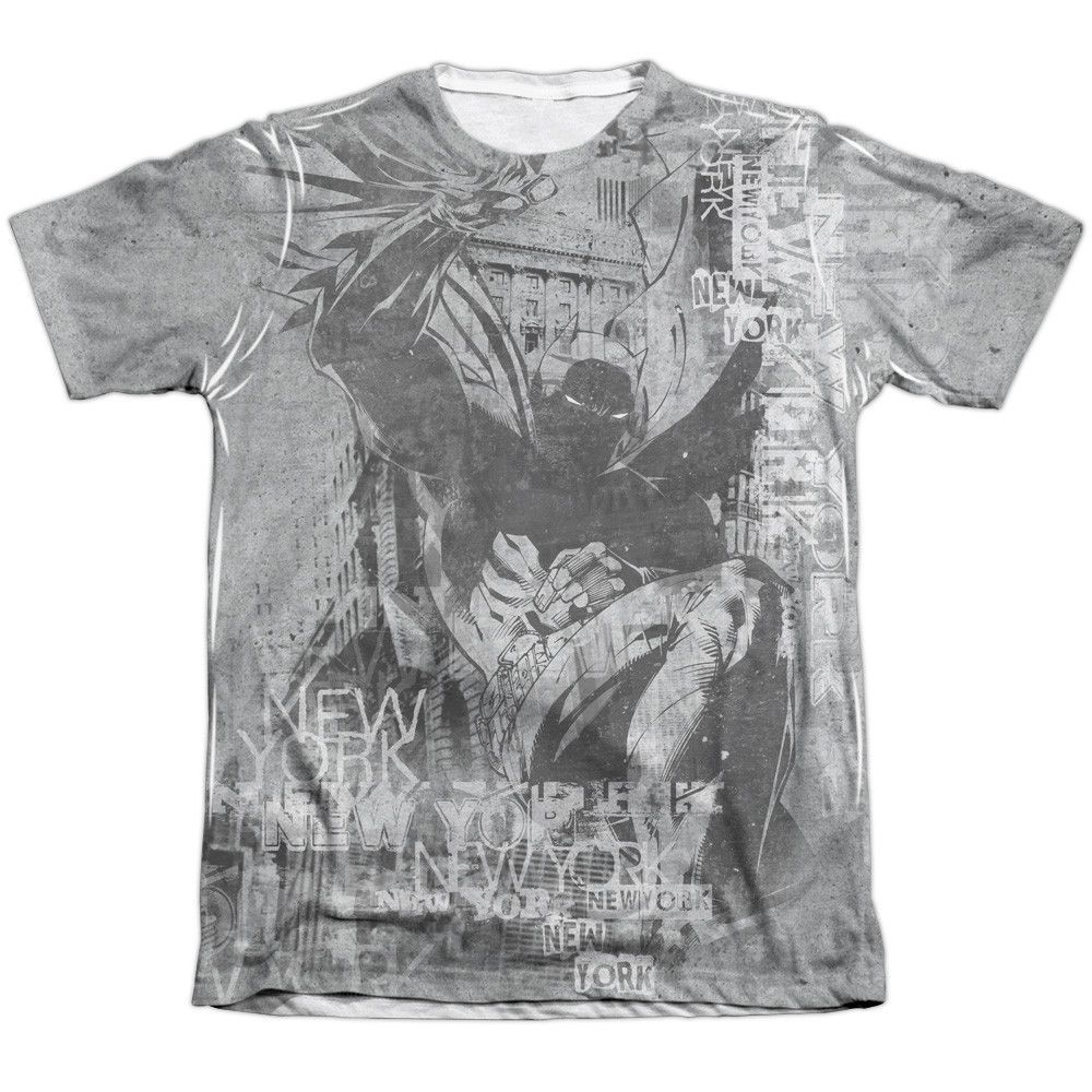 BATMAN/KNIGHT LIFE - ADULT 65/35 POLY/COTTON S/S TEE - WHITE -