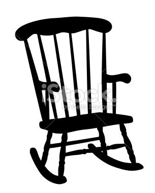 A Digit Rocking Chair Vector Art Illustration Silhouette Vector