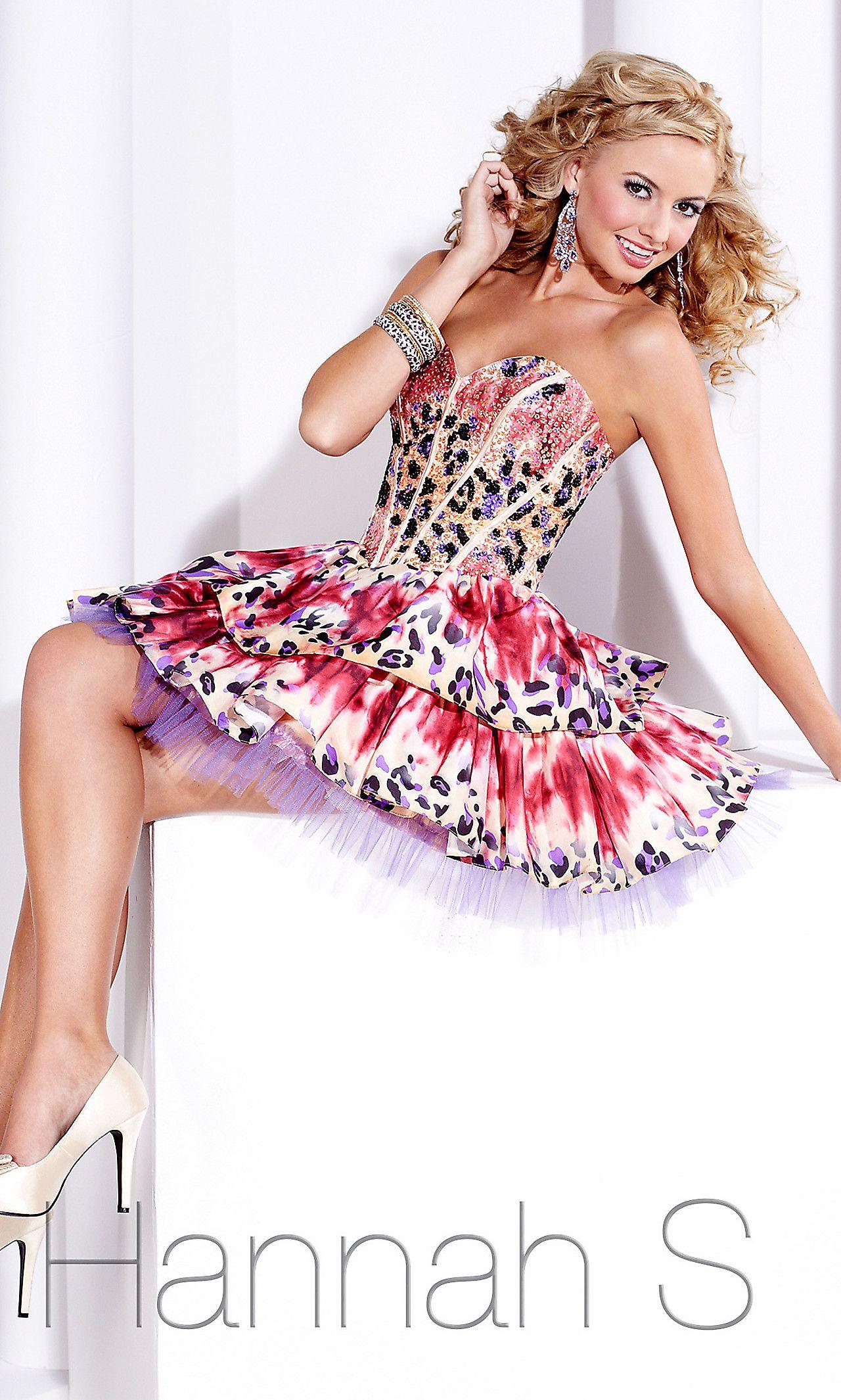 Strapless Animal Print Short Dress HS-27683 | Fashion | Pinterest ...