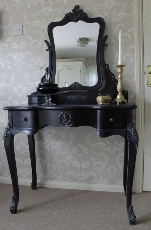 Black Dressing Table And Mirror Set Black Dressing Tables