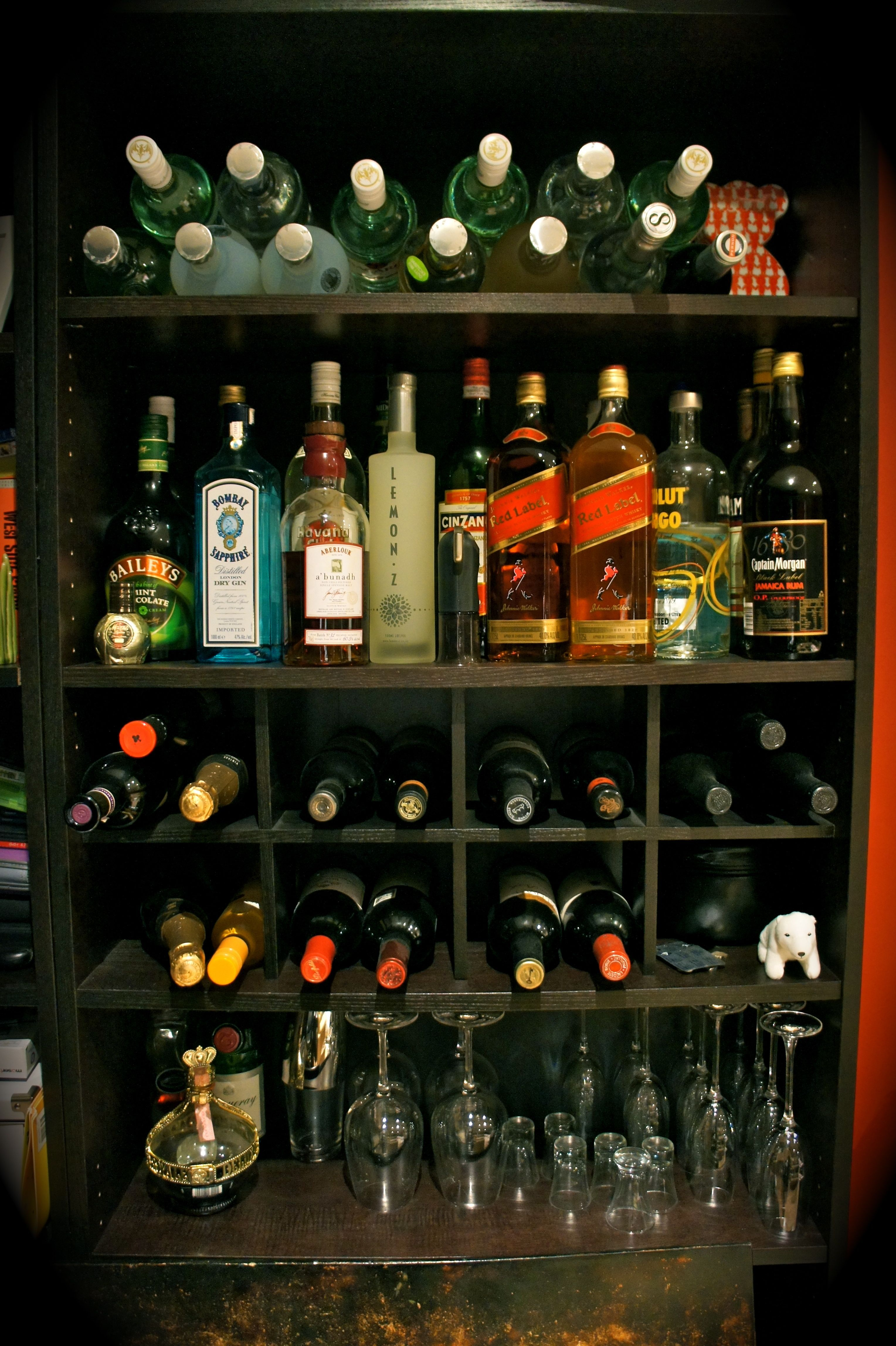 Billy Bookcase From Ikea Repurposed As A Bar Great Idea