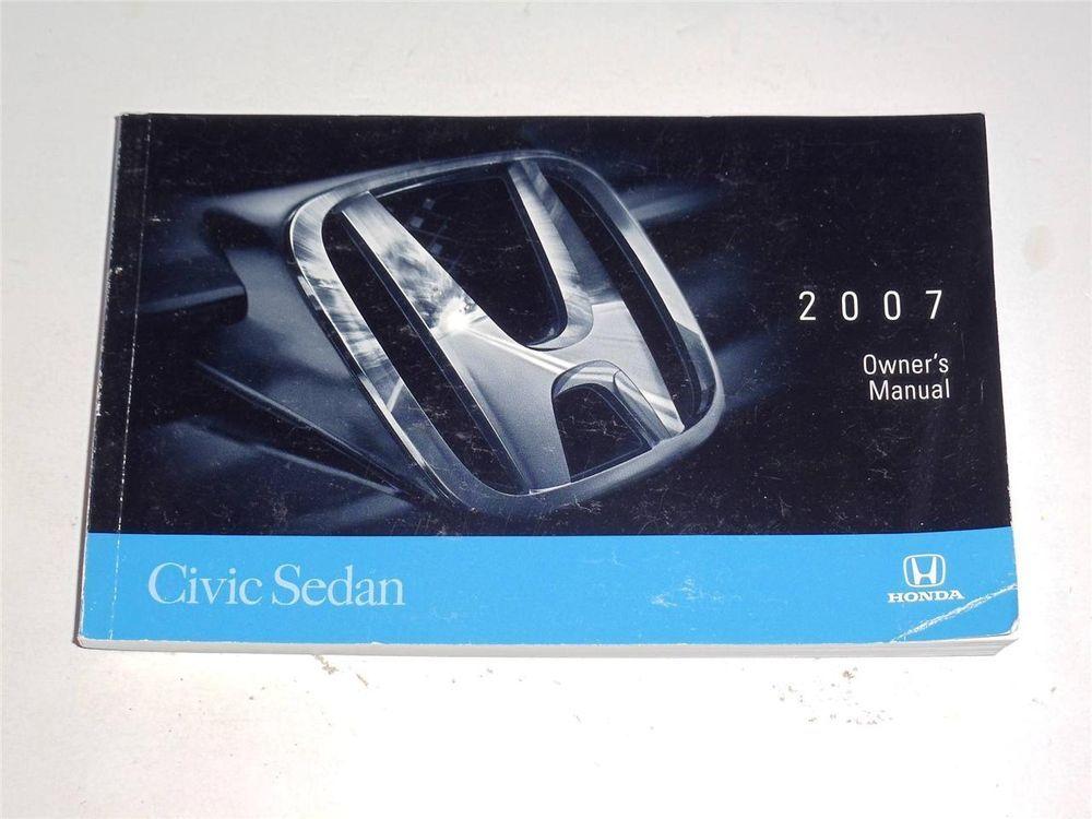2007 honda civic sedan owners manual book owners manuals pinterest rh pinterest com 2010 honda civic dx-g owner's manual honda civic 2010 owner's manual