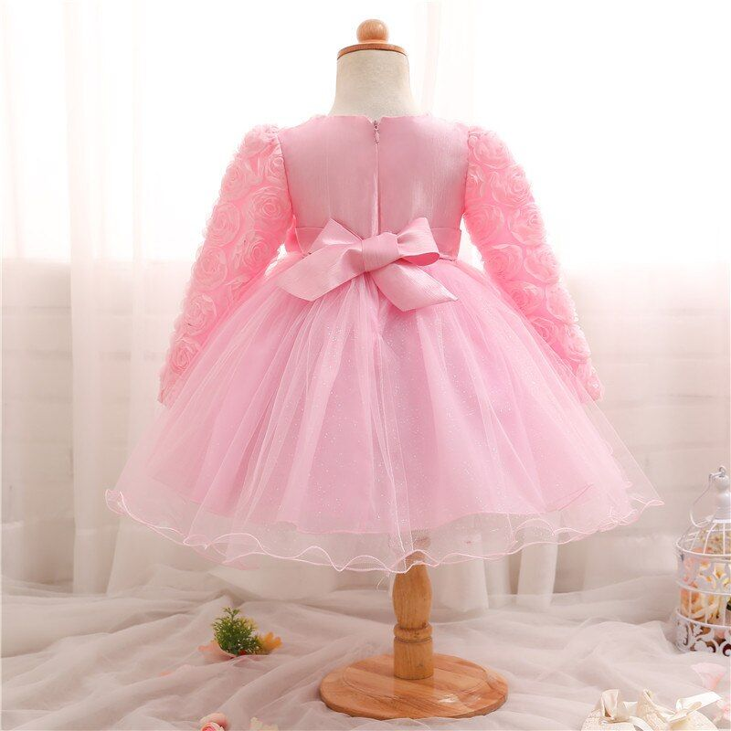 0-2Yrs Baby Girls Dress New Year Red Ball Gown Cute Princess Dresses Tutu Party Dress Toddler Dress Prom Gowns Infant Vestidos #babygirlpartydresses