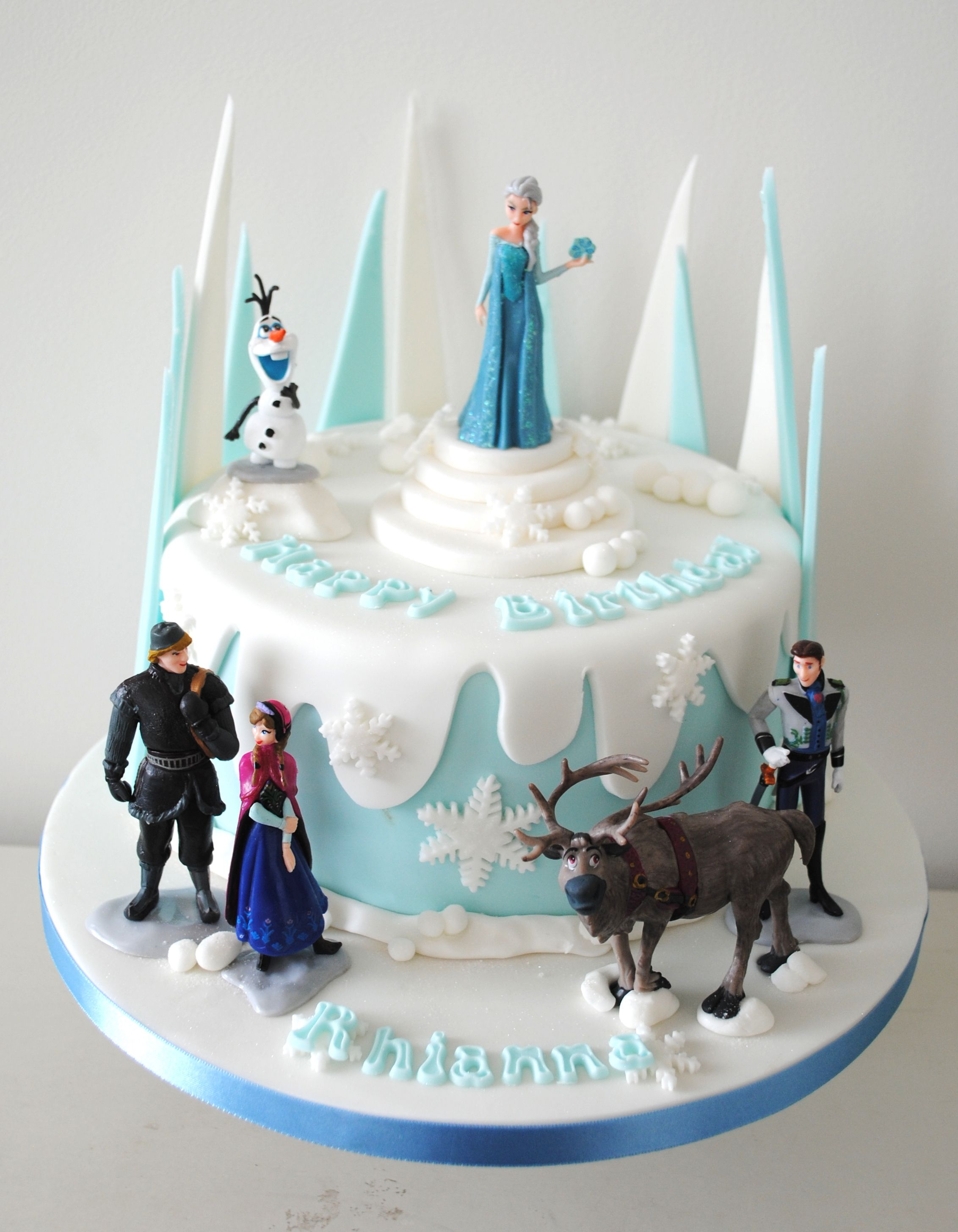 Pin by Noori on Frozen themed birthday party | Frozen party cake ...