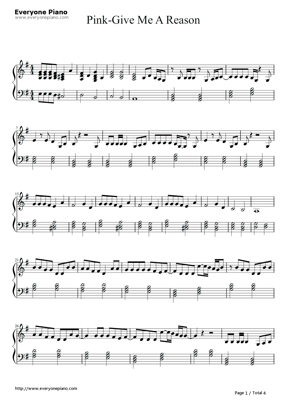 Just give me a reason pnk stave preview 1 piano music learn to play piano a complete beginners guidero 7 steps to learn how to play piano step getting familiar with your notes hexwebz Image collections
