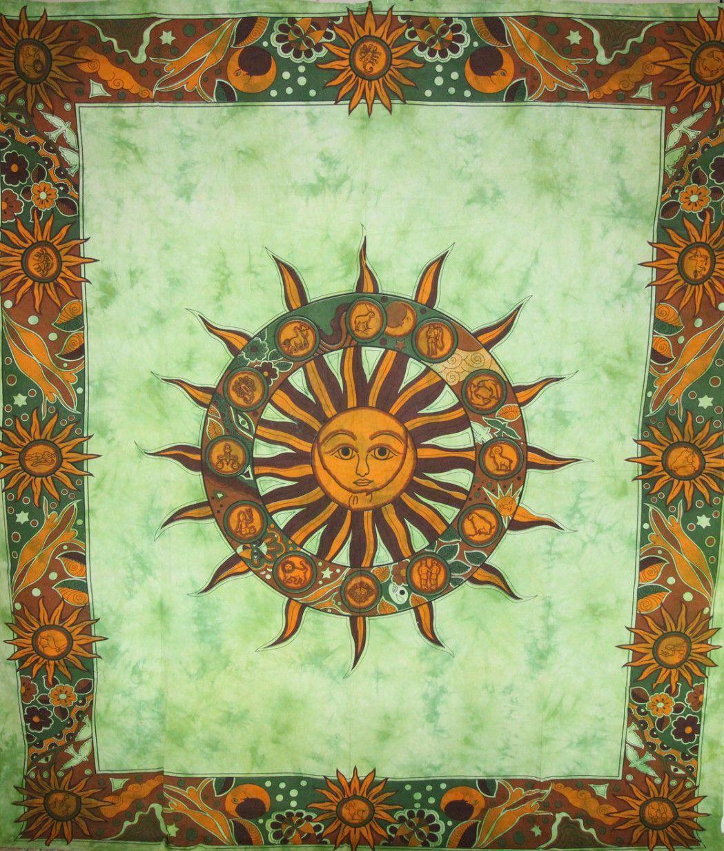 Sun Chakra & Sun Signs Artwork Decorative Tapestry | Chakra ...