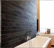 Black Slate Strip Bath Wall Cladding