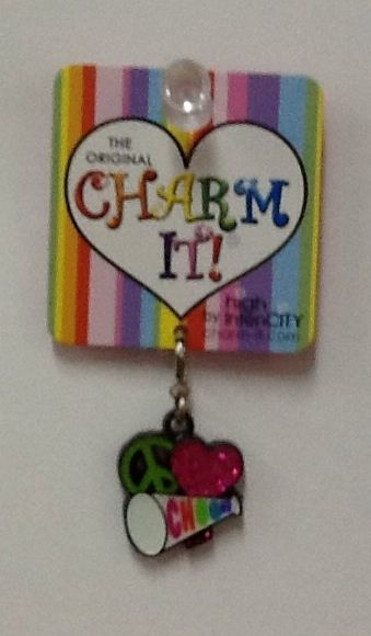 Cheer Charm: $4.99.  For more information or to check availability, call or email Polka Dots. 916-791-9070. polkadotsproshop@gmail.com