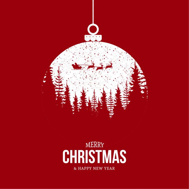 Modern merry christmas background | Free Vector