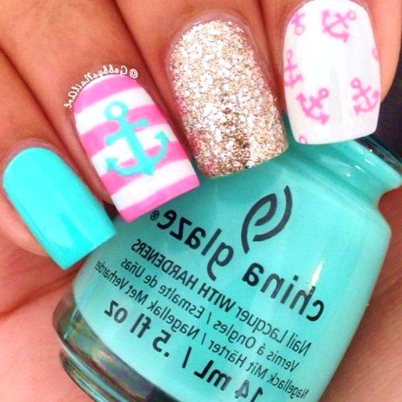 35 cutest nail designs for summer american manicure nail polish 35 cutest nail designs for summer prinsesfo Gallery