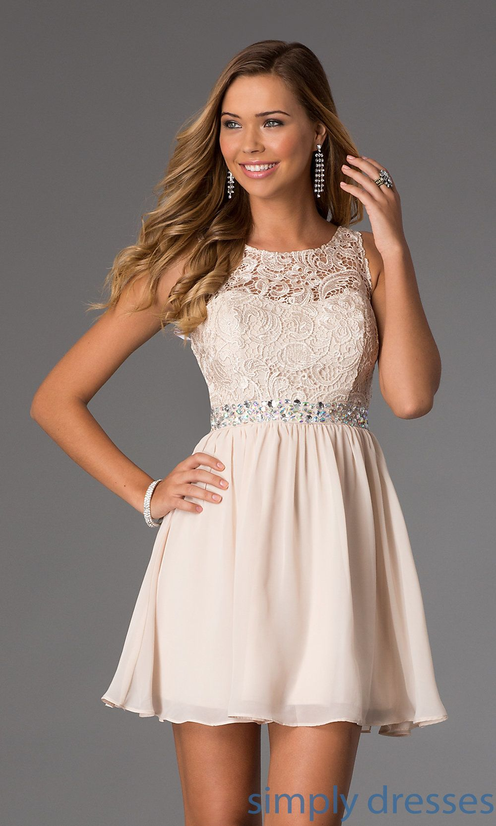 Short sleeveless masquerade party dress with lace pinterest