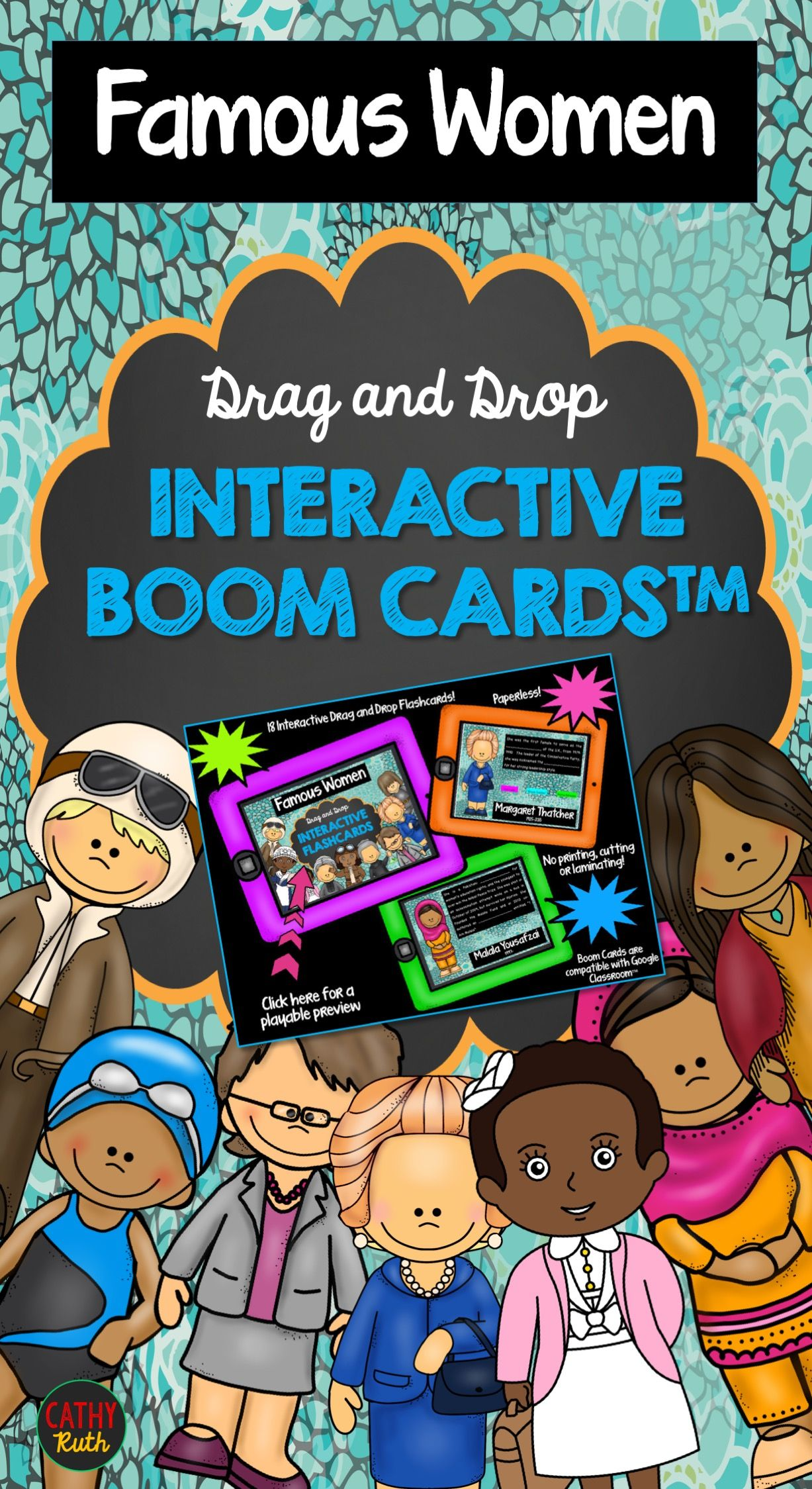 Famous Women Interactive Flashcards Boom Cards Women S