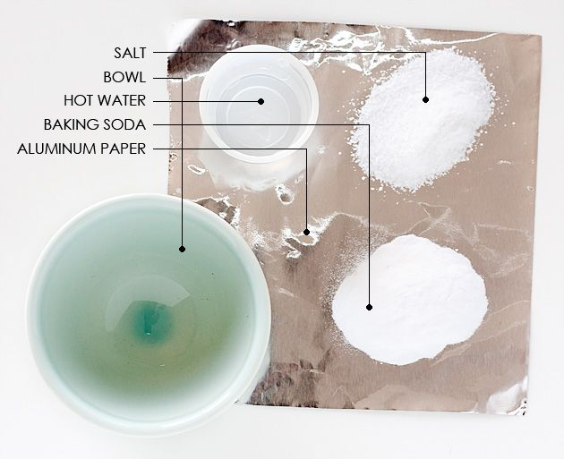 how to clean silver using baking powder salt and hot water angela says this made all my. Black Bedroom Furniture Sets. Home Design Ideas