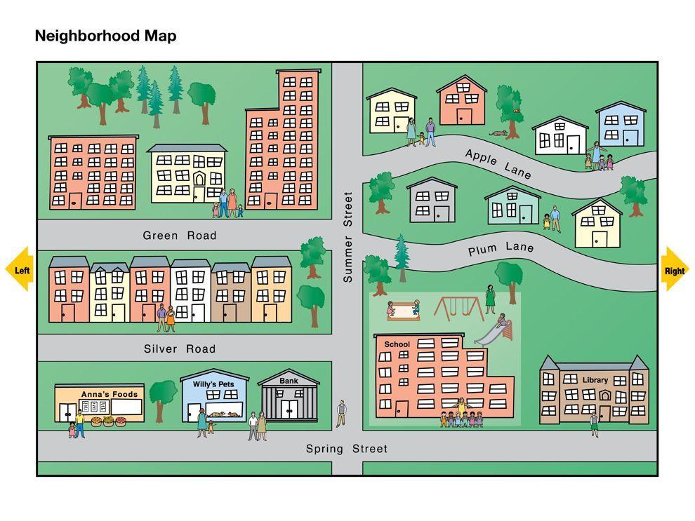 Neighborhood Map The Neighbourhood Social Studies Maps
