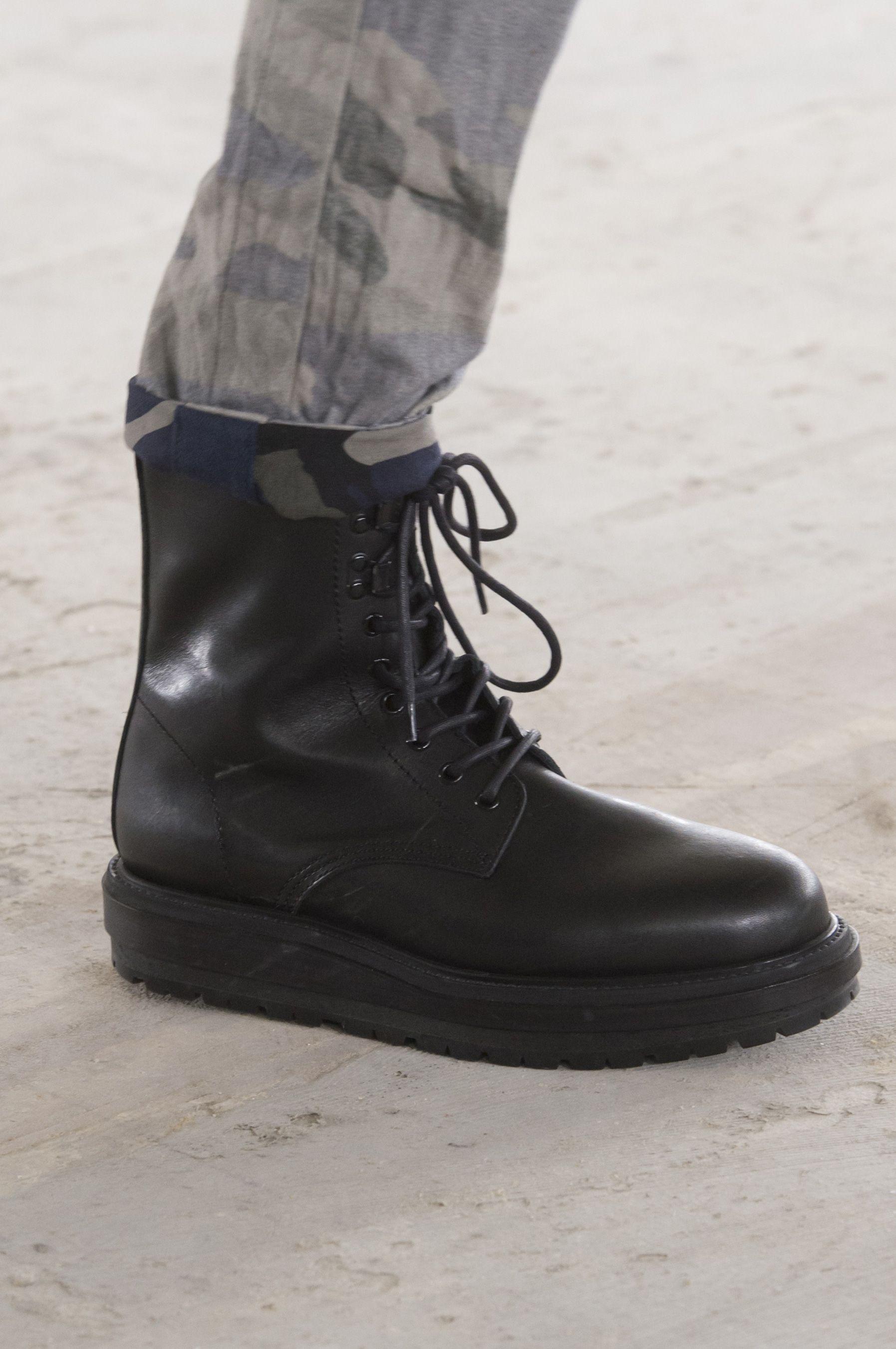 Sacai Black London Box Boots