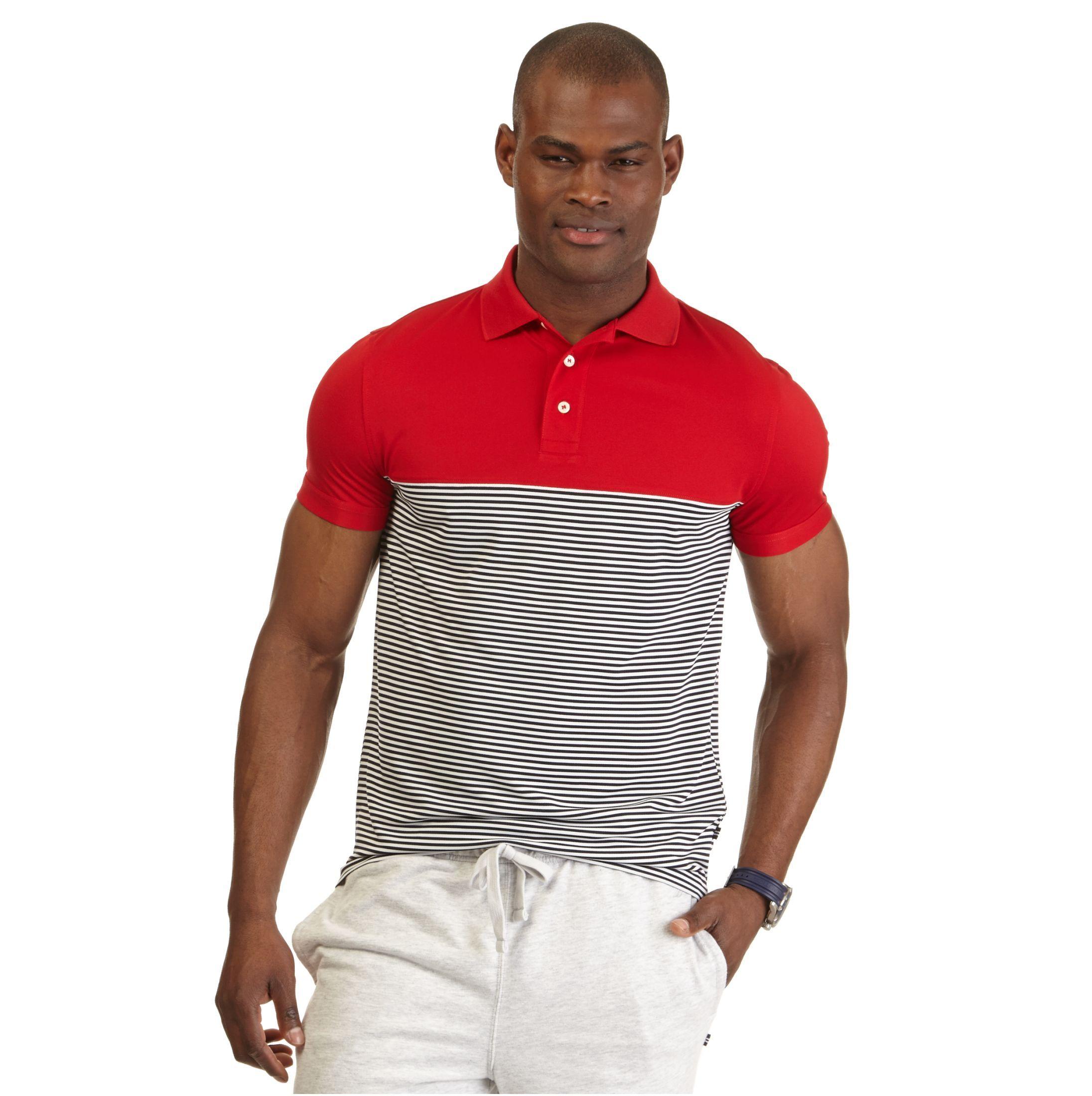 Slim Fit Striped Tech Pique Polo Shirt Nautica Business Casual