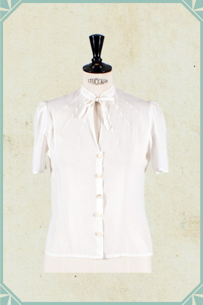 The Essential 1940s Style Blouse Vintage Frills: Pin By Heather McStay On Fashion Design Ideas