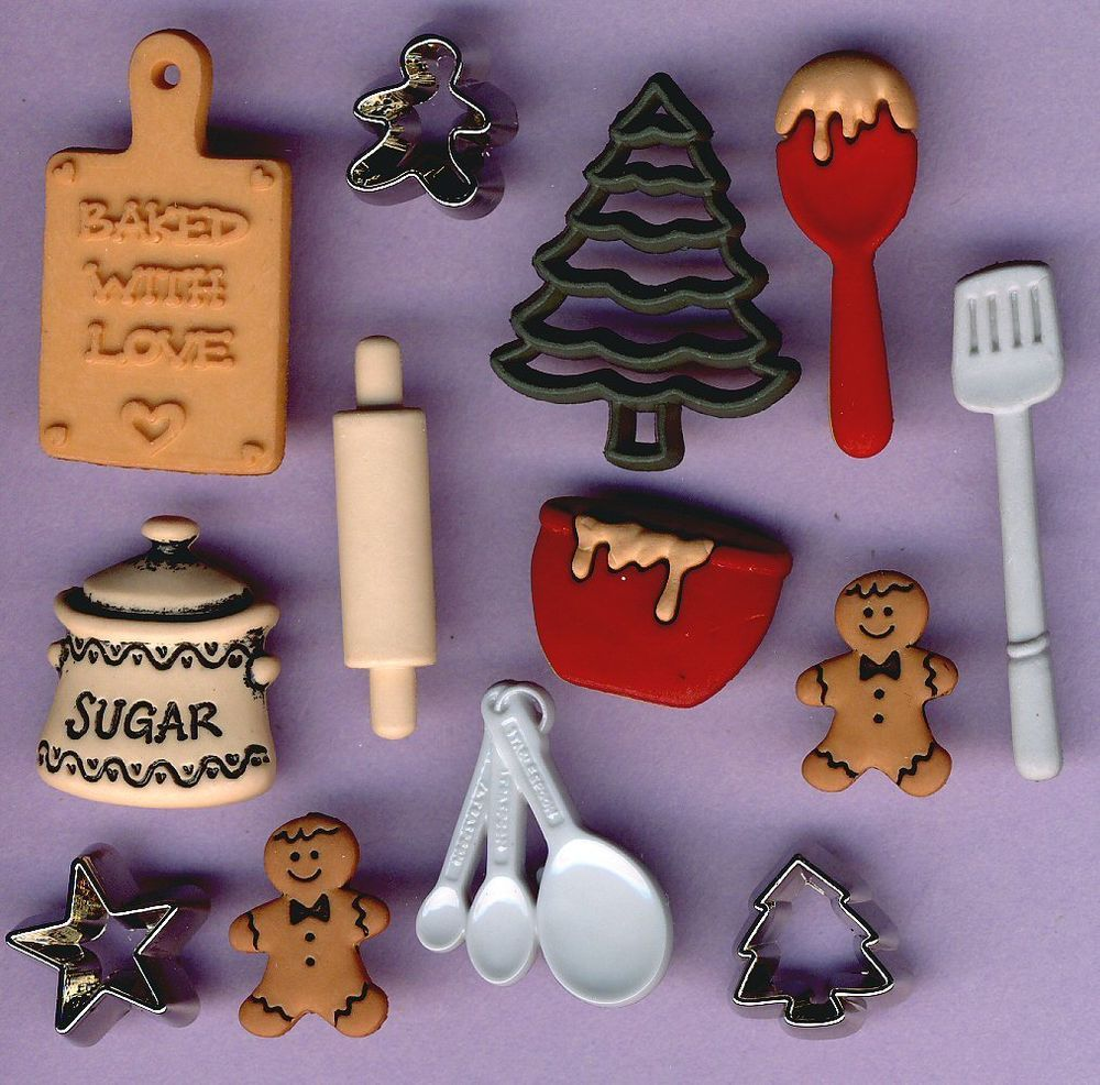 Christmas Dress It Up Novelty Craft Buttons Christmas Toys