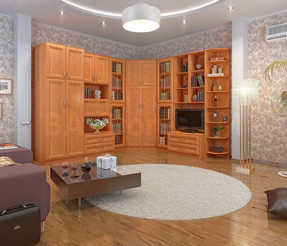 Boston 9 Pc Corner Wall Unit With Wardrobe In Alder Ace Decore Corner  Bedroom Furniture