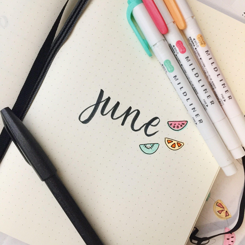 June Bullet Journal Cover Bullet Journal Month Bullet Journal