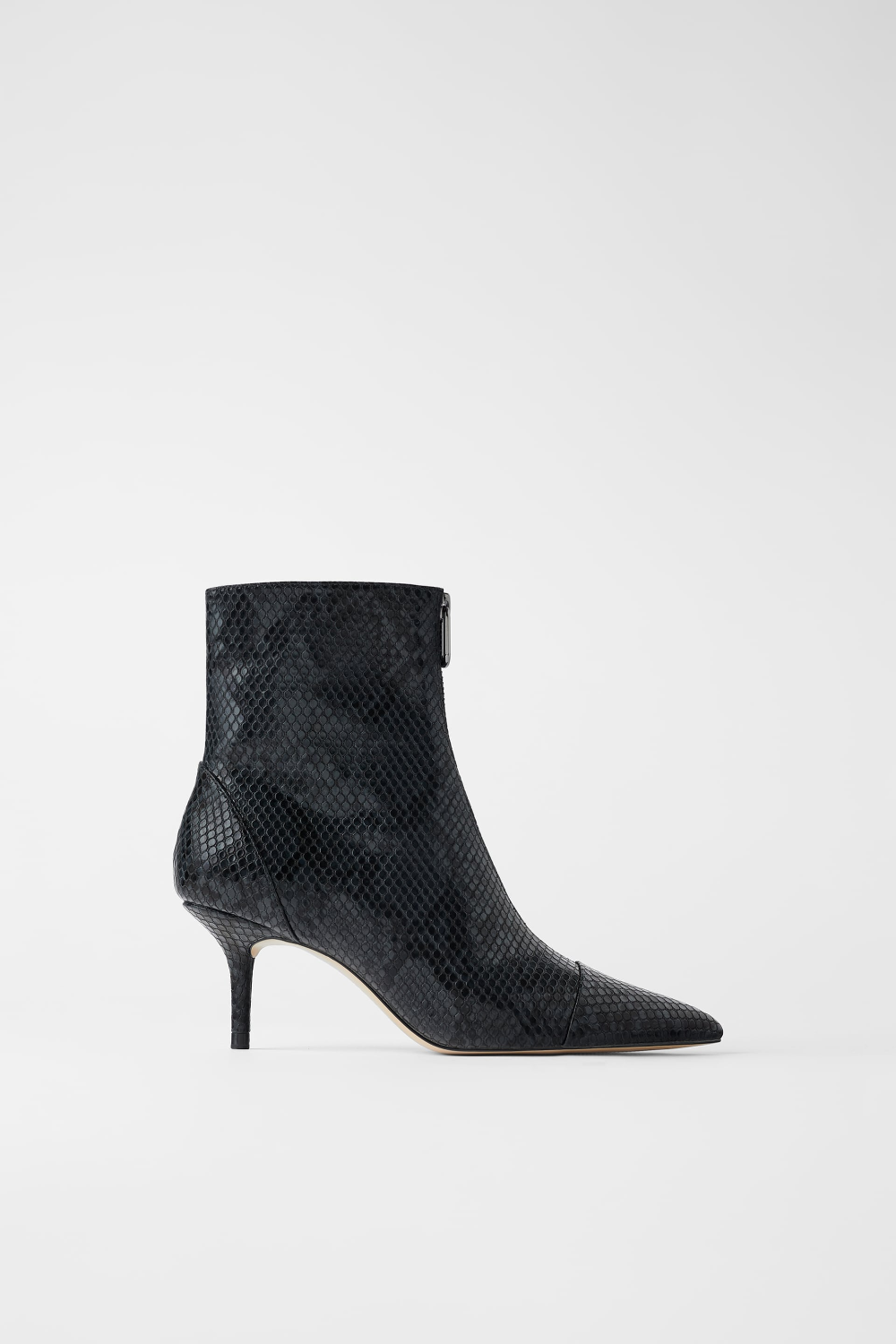 Zippered Heeled Ankle Boots High Heel Boots Ankle Heeled Ankle