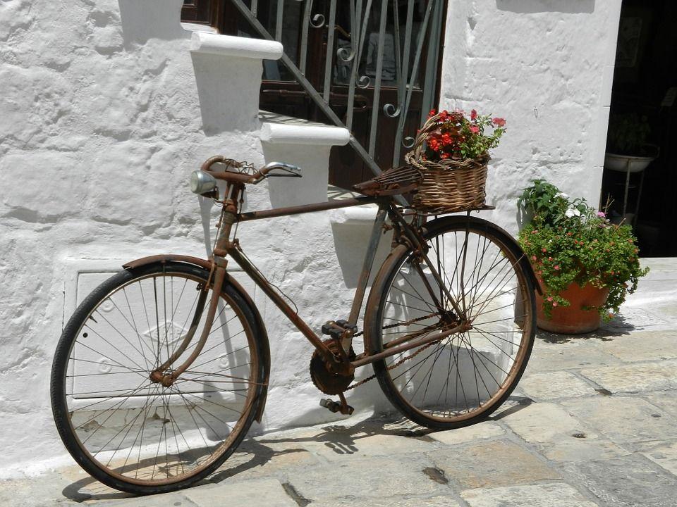 Moto, Bicicleta, Antigo, Enferrujado, Estilo De Vida