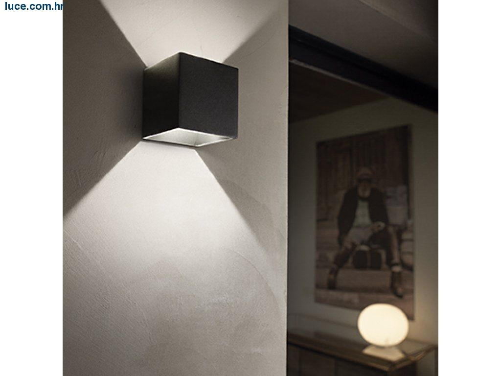 Luce Zidna Lampa Kocka Ap1 Wall Lights Ceiling Lights Ideal Lux