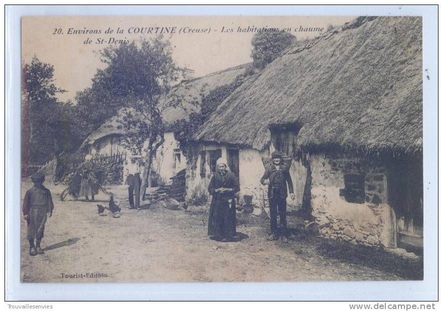 maison couverte en chaume de La Courtine, Creuse TOITS DE CHAUME